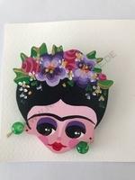 Brosche Frida Handgemalt