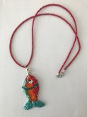 Fish necklace handmade