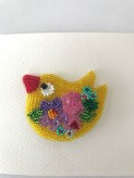 Bird brooch handmade