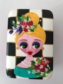 Box aus Keramik Handbemalt