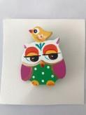Owl brooch handmade